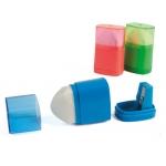 Sacapuntas Liderpapel plástico 1 uso con goma