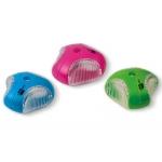 Sacapuntas Liderpapel star plástico 1 uso con deposito colores surtidos