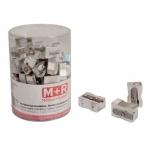 Sacapuntas Mor 200 metálico rectangular 1 uso bote de 100 unidades