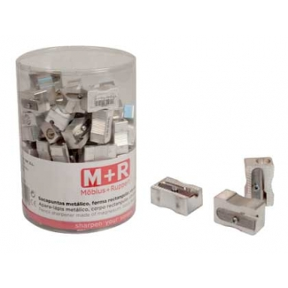 Mor 02000090 - Sacapuntas metálico, bote de 100 unidades