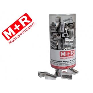 Mor 02010090 - Sacapuntas metálico, bote de 100 unidades