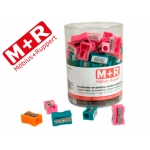 Sacapuntas Mor 304 plástico rectangular 1 uso colores surtidos