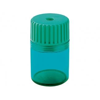 Mor 09140000 - Sacapuntas de plástico, con depósito, color turquesa