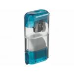 Sacapuntas Mor 955 metálico 1 uso con deposito con cierre y goma de borrar
