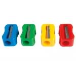 Sacapuntas Mor de plástico 1 uso sin tornillo forma rectangular ergonómica