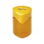 Sacapuntas Mor metálico 2 usos con deposito colores surtidos