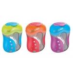 Sacapuntas color peps 2 usos con deposito colores surtidos