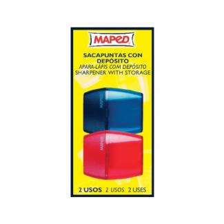 Pregunta sobre Maped - Sacapuntas metálico, con depósito, con 2 orificios, blíster de 2 unidades