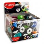 Sacapuntas plástico Maped clean grip 1 uso con deposito colores surtidos