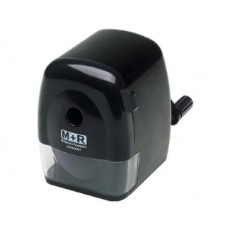 Mor 09810090 - Sacapuntas manual metálico, color negro