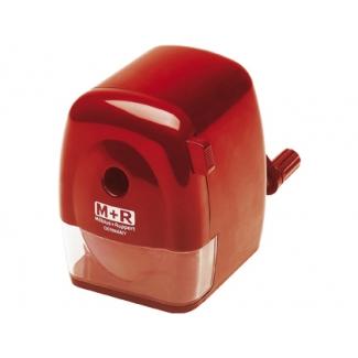 Mor 09810000 - Sacapuntas manual metálico, color rojo