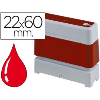 Sello automático Brother 22 mm x 60 mm color rojo