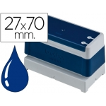 Sello automático Brother 27 mm x 70 mm color azul