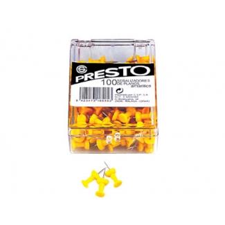 Señalizador de planos Presto color amarillo caja de 100 unidades