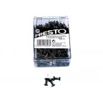 Señalizador de planos Presto color negro caja de 100 unidades