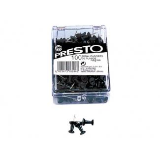 Presto 18-NE - Señalizador de planos, color negro, caja de 100 unidades