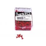 Señalizador de planos Presto color rojo caja de 100 unidades