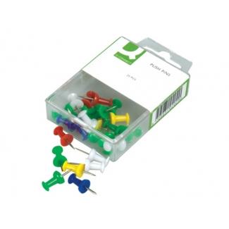 Señalizador de planos Q-connect caja de 25 unidadescolores color surtidos