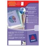 Separador Avery de plástico con 12 pestañas de índice personalizable tamaño A4