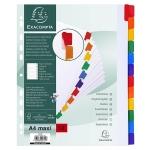 Separador Exacompta cartulina juego de 12 separadores tamaño A4 multitaladro color blanco