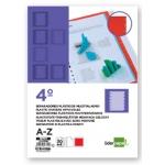 Separador Liderpapel plástico alfabético a-z tamaño cuarto