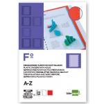 Liderpapel SP03 - Separador de plástico, folio, alfabético A-Z, color azul