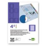 Separador Liderpapel plástico juego de 5 separadores tamaño cuarto 11 taladros