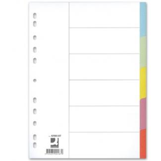 Q-Connect KF34028 - Separador de cartulina, A4, 5 pestañas, multicolor