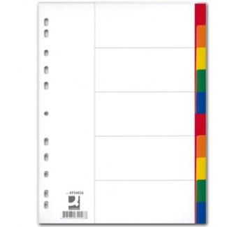 Opina sobre Q-Connect KF34027 - Separador de plástico, A4, 10 pestañas, multicolor