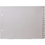Multifin 4635301 - Separador de plástico, cuarto apaisado, alfabético A-Z, color gris