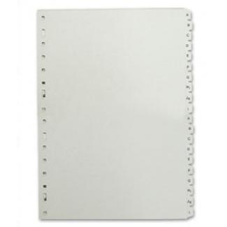 Multifin 4635200 - Separador de plástico, cuarto natural, alfabético A-Z, color gris