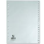 Q-Connect KF00325 - Separador de plástico, A4, alfabetico A-Z, color gris