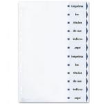 Separador de cartulina Avery imprimible 12 separadores tamaño A4