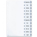 Avery 01732061 - Separador de cartulina, A4, 12 pestañas imprimibles, color blanco