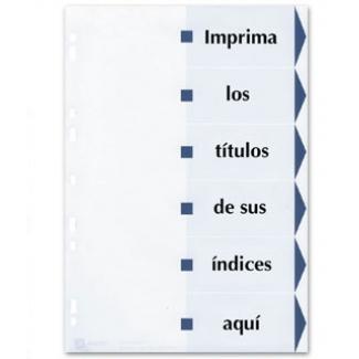 Avery 01730061 - Separador de cartulina, A4, 6 pestañas imprimibles, color blanco