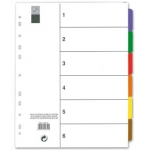 Separador maxi Avery tamaño A4 imprimibles multitaladro juego de 6 separadores soporte cartón
