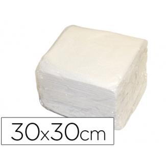 Servilleta de papel 30x30 cm color Blanca una capa paquete de 70