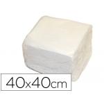 Servilleta de papel 40x40 cm color Blanca dos capas paquete de 50
