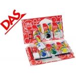 Set Das color kit con pasta de modelar blanca y terracota + espátula +rodillo + esponja