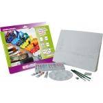 Set acuarela lidercolor contiene 10 laminas acuarela 27x38 cm 1 paleta plast 12x12ml1 sacapunt 1 perfilador 1 goma