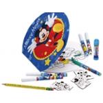 Set maletin metálico disney albun colorear+ rotuladores +lapices de colores + imanes para colorear