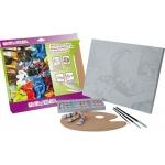 Set pintura al oleo lidercolor contiene 1 lienzo imprimación 30x40 cm 1 paleta madera 3 brochas tubos 12x12ml oleo