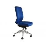 Silla Rocada sistema sir elevación a gas estructura aluminio tela ignífuga color azul respaldo 60 cm base 68x50 cm