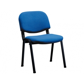 Silla apilable Q-Connect brazos cortos tapizada sin ruedas 810 mm alto 470 mm largo420 mm profundidad color azul