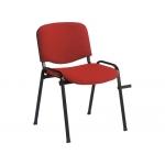 Silla apilable Q-Connect brazos cortos tapizada sin rueds 810 mm alto 470 mm largo420 mm profundidad color roja