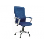 Silla de dirección Q-connect con respaldo alto regulable en altura alto ancho 500 mm y prof 520 mm color azul