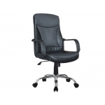 Silla dirección Q-connect respaldo alto syntax regulableen altura alto 500 largo 490 mm prof color negra