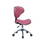 Silla giratoria Q-Connect respaldo medio regulable altura 845+120 mm alto 460 mm de ancho y 450 mm prof color rosa