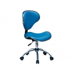 Silla giratoria Q-connect respaldo medio regulable altura 845+120 mm de alto 460 mm ancho y 450 mm prof color azul
