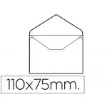 Sobre Liderpapel Nº 0 color blanco tarjeta de visita 75x110 mm sin engomar caja de 100 unidades